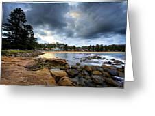 Avoca Sunset Greeting Card by Steve Caldwell