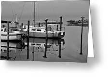 Avon Harbor Calm Reflection Bxw 1/13 Greeting Card