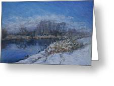 Avon In The Snow Greeting Card