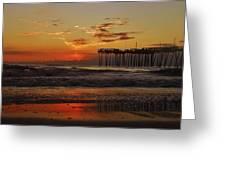 Avon Pier Hatteras Sunrise 1 1/15 Greeting Card