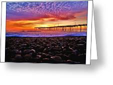Avon Pier Shells Sunrise Greeting Card