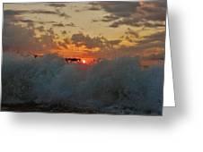 Avon Pier Splash Sunrise 7/26 Greeting Card