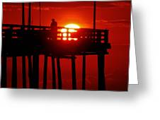 Avon Pier Sunrise 2 7/26 Greeting Card