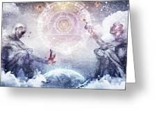 Awake In A Silver Land Greeting Card