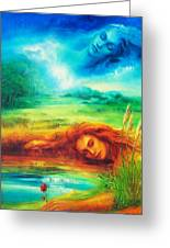 Awakening Blue Greeting Card