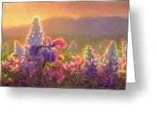 Awakening - Mt Susitna Spring - Sleeping Lady Greeting Card