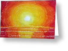 Awakening Original Painting Greeting Card