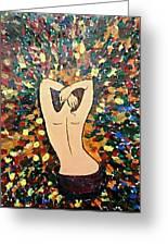 Awakening Palette Knife Painting Greeting Card