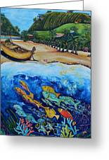 Away With The Fishes Greeting Card