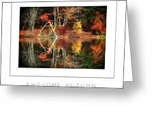 Awesome Autumn Poster Greeting Card