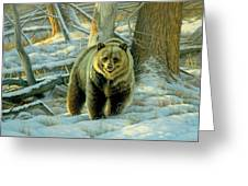 Awesome Encounter Greeting Card by Paul Krapf
