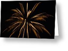 Awesome Orange Fireworks Galveston Greeting Card