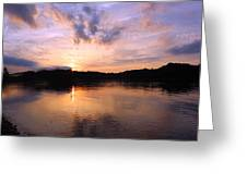 Awesome Sunset Greeting Card