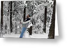 Awestruck By The Beauty Of Snow Greeting Card