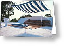 Awning At The Vacation Home Of Gaston Berthelot Greeting Card