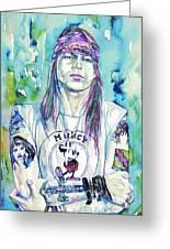 Axl Rose Portrait.1 Greeting Card