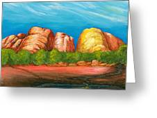 Ayers Rock End Greeting Card