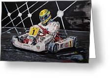 Ayrton Senna Karting Greeting Card