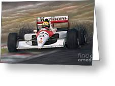 Ayrton Senna Greeting Card