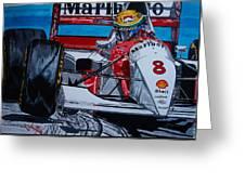 Ayrton Senna Monaco 93 Greeting Card