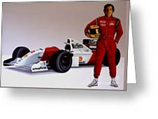 Ayrton Senna Greeting Card