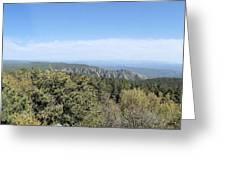 Az From 8000 Feet Greeting Card