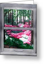 Azalea Bowl Overlook Gardens Greeting Card