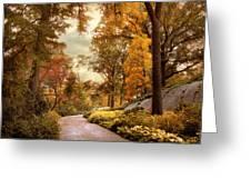 Azalea Garden In Autumn Greeting Card