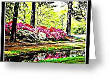 Azaleas On Creek Greeting Card