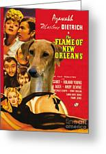 Azawakh Art - The Flame Of New Orleans Movie Poster Greeting Card