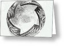 Aztec Bowl Greeting Card