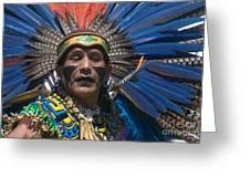 Aztec Dance Greeting Card