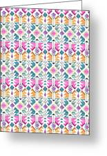 Aztec Inspired Arrow And Geometric Pattern One.jpg Greeting Card