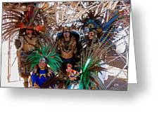 Aztec Performers O'odham Tash Casa Grande Arizona 2006  Greeting Card