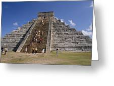 Aztec Temple Greeting Card