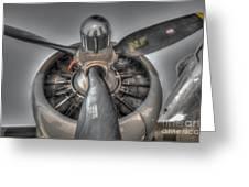 B-17g Bomber Prop Greeting Card
