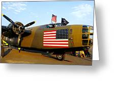 B-24 Bomber - Diamond Lil Greeting Card