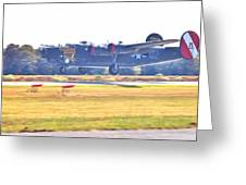 B-24 Landing Greeting Card