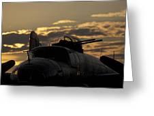 B-25 Sunset Greeting Card