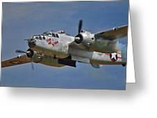 B-25 Take-off Time 3748 Greeting Card