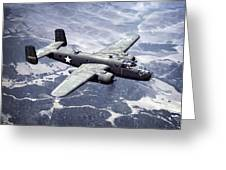 B-25 World War II Era Bomber - 1942 Greeting Card