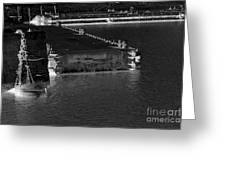 B And W Port  Greeting Card