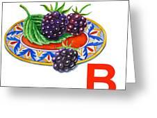 B Art Alphabet For Kids Room Greeting Card