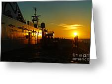 B C Ferries Sunsets Sc3417-13 Greeting Card