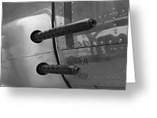 B17 Bomber Side Guns Greeting Card