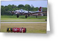 B17 Bomber Taking Off Greeting Card
