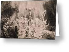 The Three Crosses, Circa 1660 Greeting Card