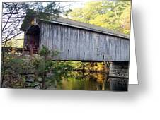 Babbs Covered Bridge In Maine Greeting Card