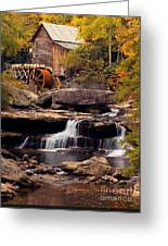 Babcock Grist Mill And Falls Greeting Card