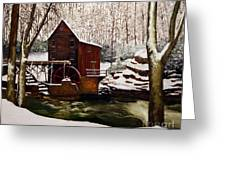 Babcock Mill In The Snow Greeting Card